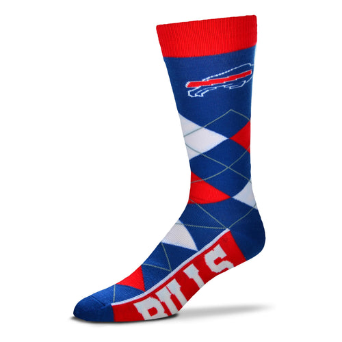 Buffalo Bills Men's NFL Football Argyle Lineup Socks - Dynasty Sports & Framing