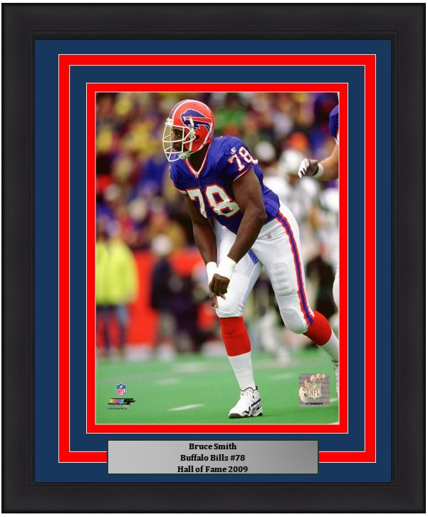 "Buffalo Bills Bruce Smith NFL Football 8"" x 10"" Framed and Matted Photo"