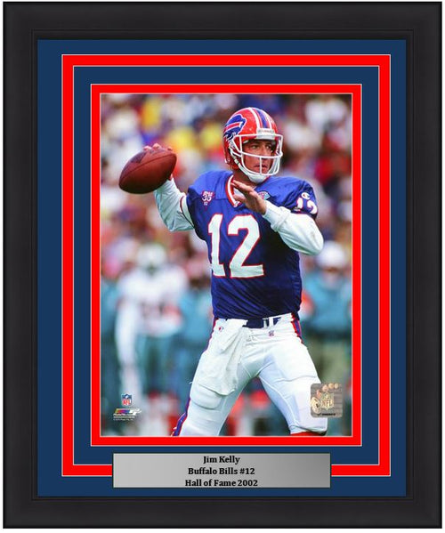"Buffalo Bills Jim Kelly NFL Football 8"" x 10"" Framed and Matted Photo"