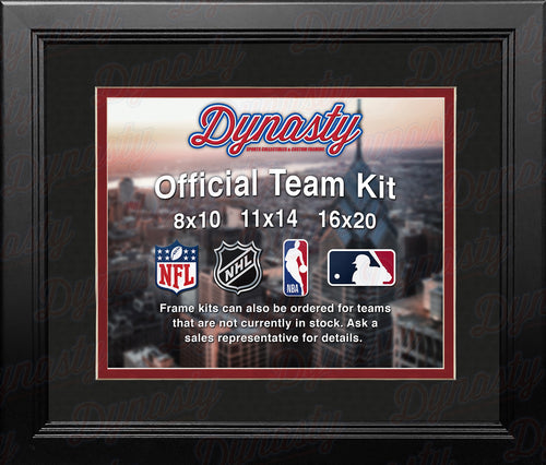 NFL Football Photo Picture Frame Kit - Atlanta Falcons (Black Matting, Red Trim) - Dynasty Sports & Framing