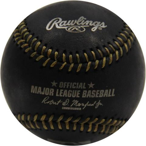 Rawlings Major League Baseball Black & Gold Official Game Ball - Dynasty Sports & Framing