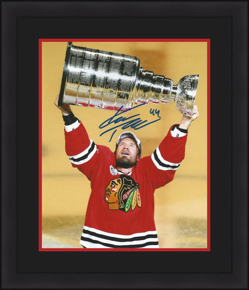 Chicago Blackhawks Kimmo Timonen Autographed Stanley Cup NHL Hockey Framed and Matted Photo - Dynasty Sports & Framing