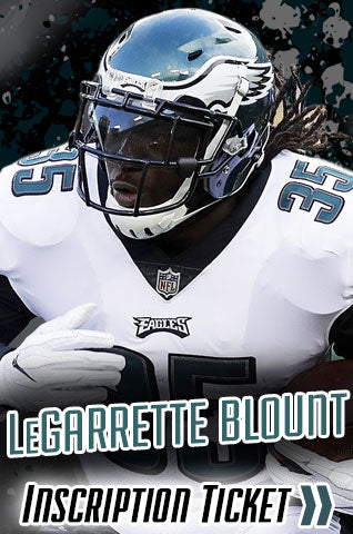 LeGarrette Blount Philadelphia Eagles Inscription Tickets
