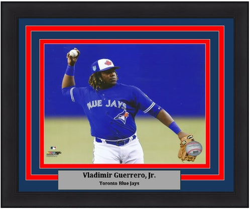 Vladimir Guerrero, Jr. Toronto Blue Jays Fielding Framed MLB Baseball Photo - Dynasty Sports & Framing