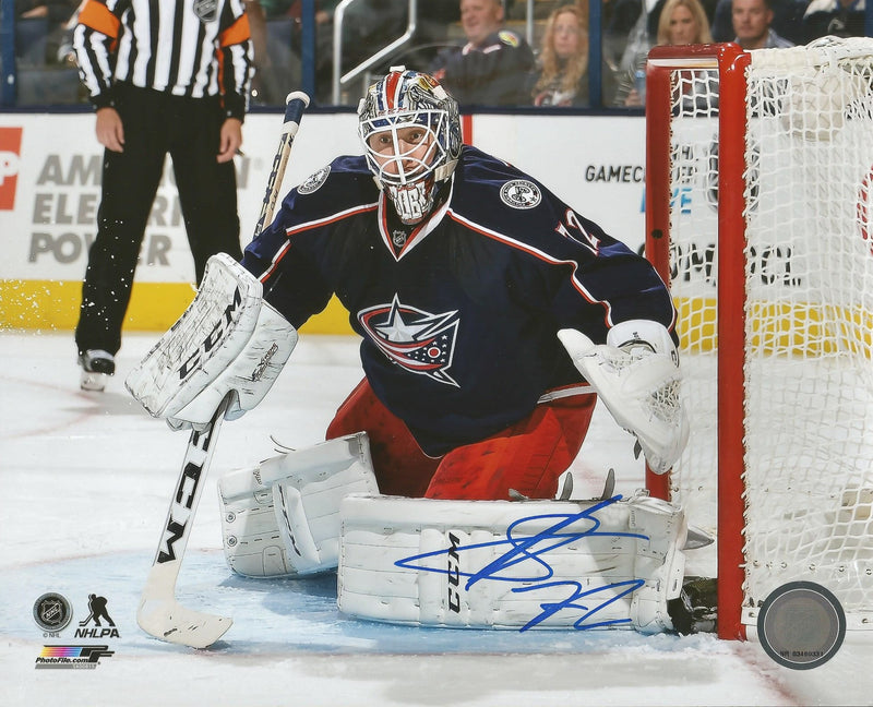 "Sergei Bobrovsky in Net Columbus Blue Jackets Autographed 8"" x 10"" Hockey Photo - Dynasty Sports & Framing"