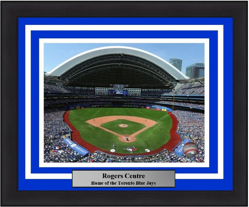 "Toronto Blue Jays Rogers Centre MLB Baseball 8"" x 10"" Framed and Matted Stadium Photo - Dynasty Sports & Framing"
