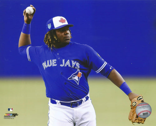 Toronto Blue Jays Vladimir Guerrero, Jr. Fielding MLB Baseball Photo - Dynasty Sports & Framing