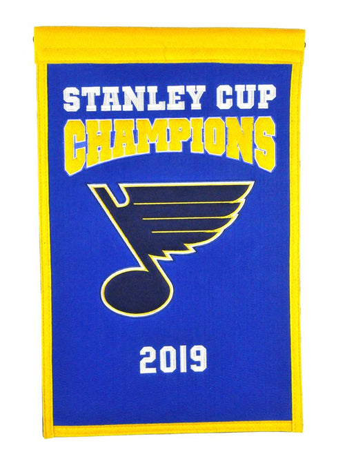 "St. Louis Blues 2019 Stanley Cup Champions 14"" x 22"" Banner"