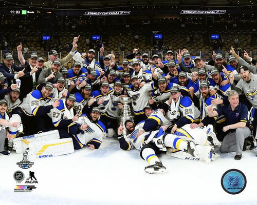 "St. Louis Blues 2019 Stanley Cup Champions Team Celebration NHL Hockey 8"" x 10"" Photo"