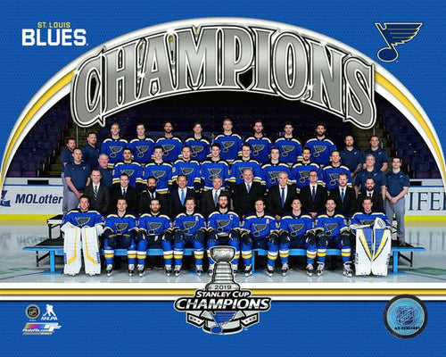"St. Louis Blues 2019 Stanley Cup Champions Team Roster Line-Up NHL Hockey 8"" x 10"" Photo"