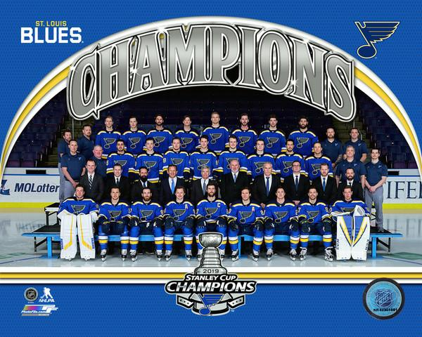 "St. Louis Blues 2019 Stanley Cup Champions Team Roster Line-Up NHL Hockey 8"" x 10"" Photo - Dynasty Sports & Framing"