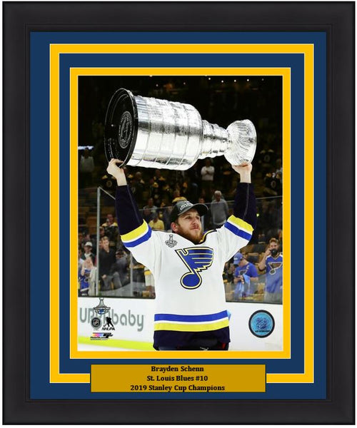 "Brayden Schenn St. Louis Blues 2019 Stanley Cup Champions NHL Hockey 8"" x 10"" Framed and Matted Photo"