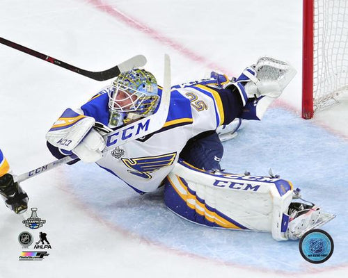 "Jordan Binnington St. Louis Blues 2019 Stanley Cup Finals, Game 7 NHL Hockey 8"" x 10"" Photo"