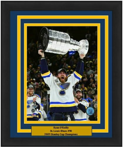 "Ryan O'Reilly St. Louis Blues 2019 Stanley Cup Champions NHL Hockey 8"" x 10"" Framed and Matted Photo"