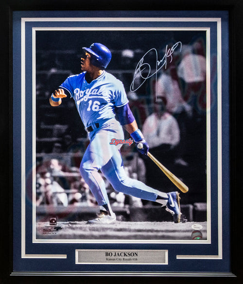 "Bo Jackson Kansas City Royals Autographed 16"" x 20"" Framed Photo - Dynasty Sports & Framing"