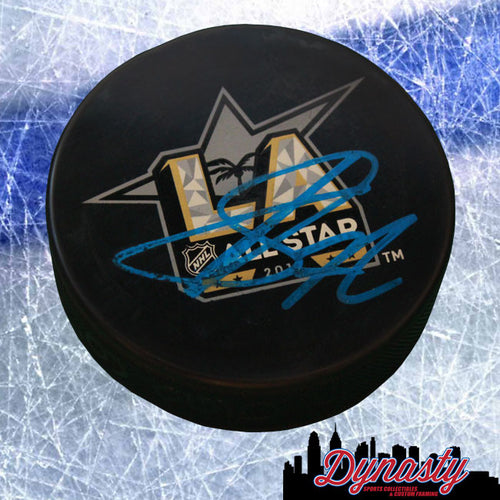 Columbus Blue Jackets Sergei Bobrovsky Autographed NHL Hockey 2017 All-Star Game Logo Replica Puck - Dynasty Sports & Framing