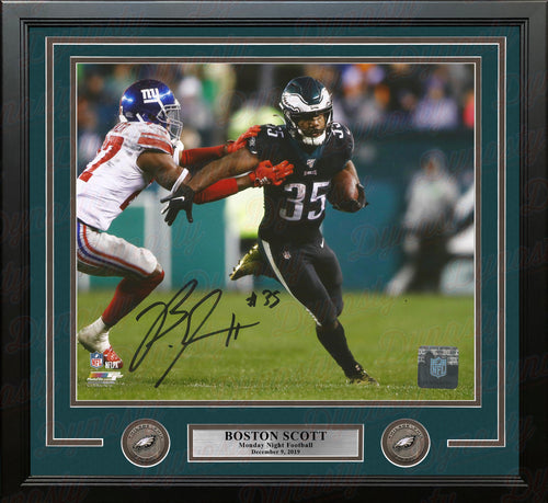 "Boston Scott v. Giants Monday Night Football Philadelphia Eagles Autographed 16"" x 20"" Framed Photo - Dynasty Sports & Framing"