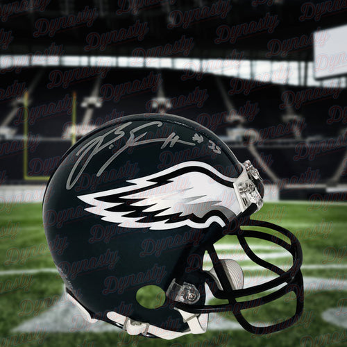 Boston Scott Philadelphia Eagles Autographed NFL Football Mini-Helmet - Dynasty Sports & Framing