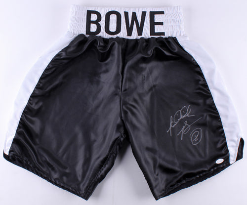 Riddick Bowe Autographed Boxing Trunks - Dynasty Sports & Framing