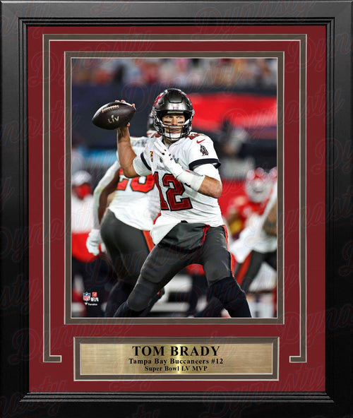 "Tom Brady Super Bowl LV Action Tampa Bay Buccaneers 8"" x 10"" Framed Football Photo - Dynasty Sports & Framing"