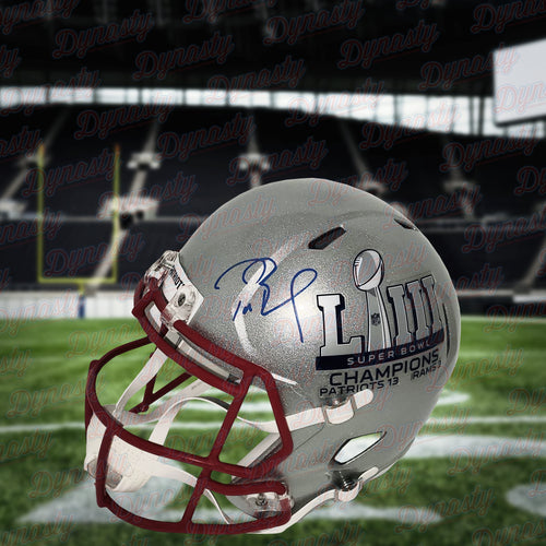 Tom Brady New England Patriots Autographed Riddell Super Bowl LIII Logo Speed Replica Helmet - Limited Edition of 53