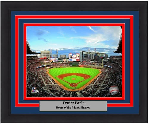 "Atlanta Braves Truist Park MLB Baseball Stadium 8"" x 10"" Framed and Matted Photo - Dynasty Sports & Framing"