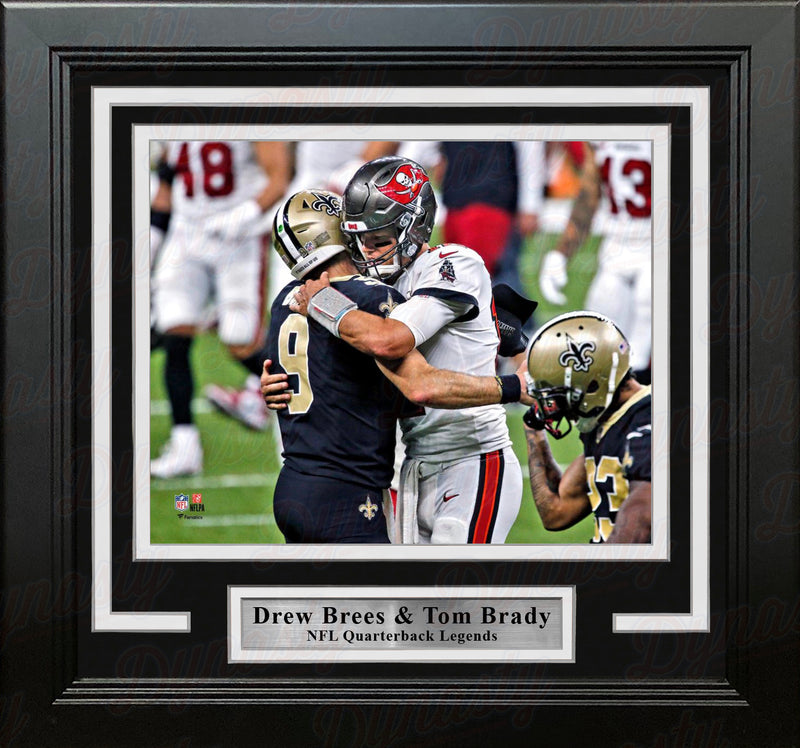 "Drew Brees and Tom Brady 8"" x 10"" Framed Quarterback Legends Football Photo - Dynasty Sports & Framing"
