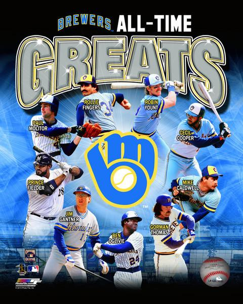 "Milwaukee Brewers All-Time Greats MLB Baseball 8"" x 10"" Photo"