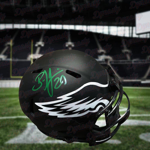 (Pre-Order) Brian Dawkins Autographed Eclipse Speed Eagles Mini-Helmet - Dynasty Sports & Framing