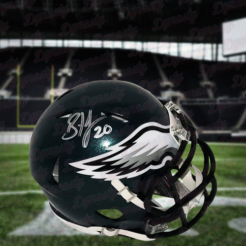 Brian Dawkins Philadelphia Eagles Autographed NFL Football Mini-Helmet - Dynasty Sports & Framing
