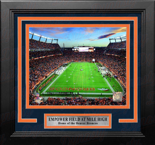 "Denver Broncos Sports Empower Field at Mile High Stadium 8"" x 10"" Framed Football Photo - Dynasty Sports & Framing"