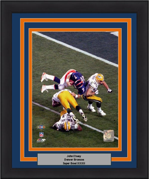 "Denver Broncos John Elway Super Bowl XXXII NFL Football 8"" x 10"" Framed and Matted Photo - Dynasty Sports & Framing"