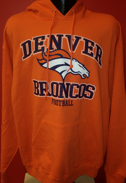 Denver Broncos NFL Football Orange Pullover Hooded Sweatshirt - Dynasty Sports & Framing