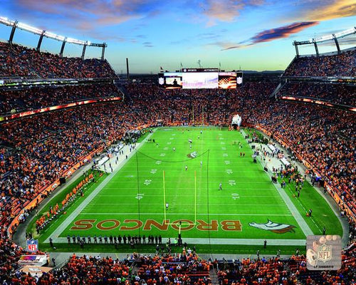 "Denver Broncos Sports Authority Field at Mile High Stadium NFL Football 8"" x 10"" Photo"