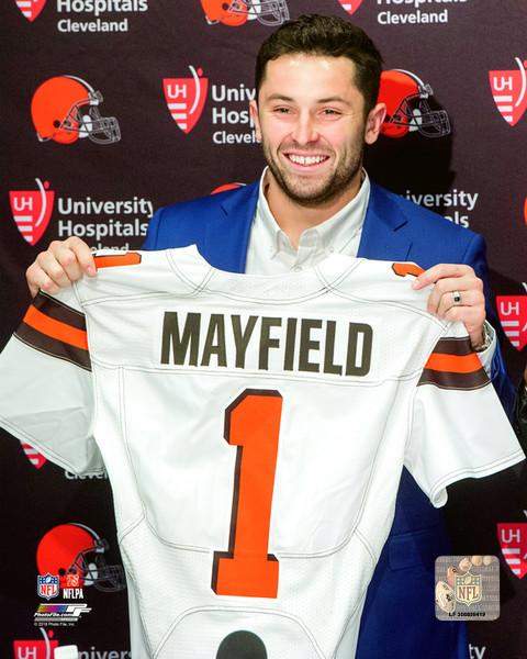 "Cleveland Browns Baker Mayfield Draft Day NFL Football 8"" x 10"" Photo"
