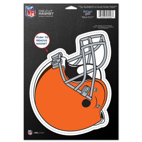 "Cleveland Browns NFL Football 8"" Die-Cut Magnet - Dynasty Sports & Framing"