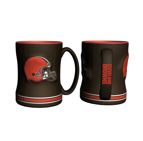 Cleveland Browns NFL Football Logo Relief 14 oz. Mug - Dynasty Sports & Framing