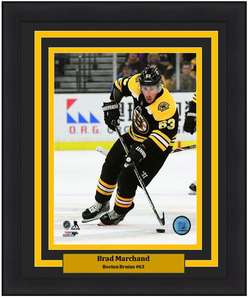 "Brad Marchand Boston Bruins In Action NHL Hockey 8"" x 10"" Framed and Matted Photo - Dynasty Sports & Framing"