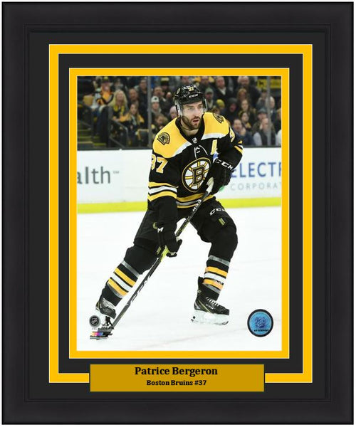 "Patrice Bergeron Boston Bruins in Action NHL Hockey 8"" x 10"" Framed and Matted Photo"
