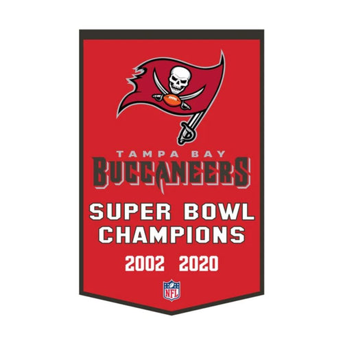 Tampa Bay Buccaneers NFL Super Bowl Dynasty Banner - Dynasty Sports & Framing