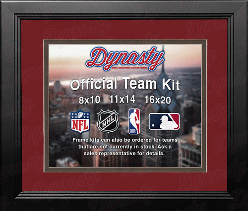 NFL Football Photo Picture Frame Kit - Tampa Bay Buccaneers (Red Matting, Charcoal Trim) - Dynasty Sports & Framing