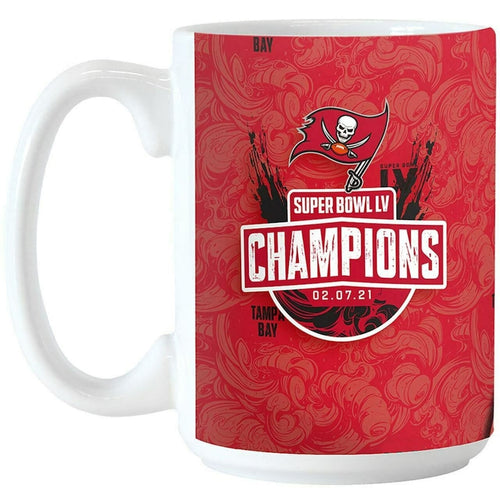 Tampa Bay Buccaneers Super Bowl LV Champions Sublimated 15 oz. Coffee Mug - Dynasty Sports & Framing