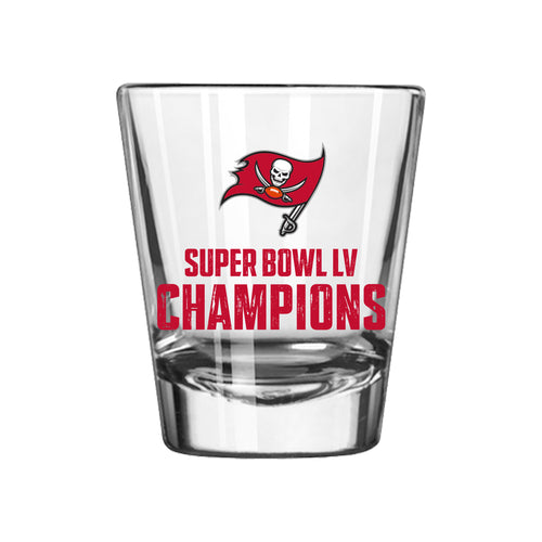Tampa Bay Buccaneers Super Bowl LV Champions 2 oz. NFL Shot Glass - Dynasty Sports & Framing