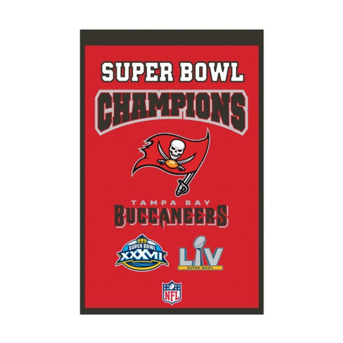 Tampa Bay Buccaneers Super Bowl Champions Score NFL Heritage Banner - Dynasty Sports & Framing