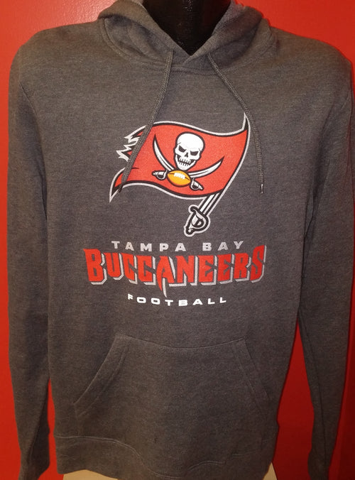 Tampa Bay Buccaneers NFL Football Charcoal Pullover Hooded Sweatshirt