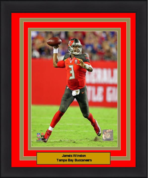 "Tampa Bay Buccaneers Jameis Winston 8"" x 10"" Framed and Matted Photo - Dynasty Sports & Framing"