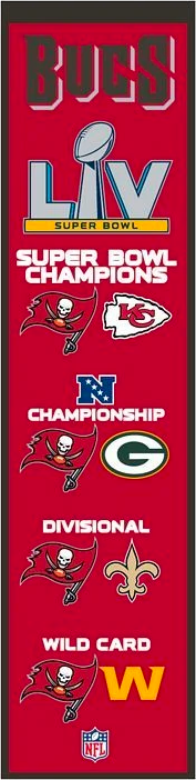 Tampa Bay Buccaneers Super Bowl LV Road to the Championship NFL Heritage Banner - Dynasty Sports & Framing