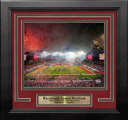 "Tampa Bay Buccaneers Raymond James Stadium Super Bowl LV Celebration 8"" x 10"" Framed Football Photo - Dynasty Sports & Framing"