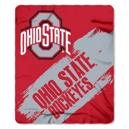 Ohio State Buckeyes Control Fleece Throw Blanket - Dynasty Sports & Framing