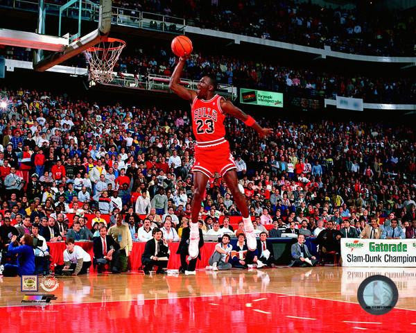 "Michael Jordan Chicago Bulls, 1988 Slam Dunk Contest 8"" x 10"" Photo - Dynasty Sports & Framing  - 1"